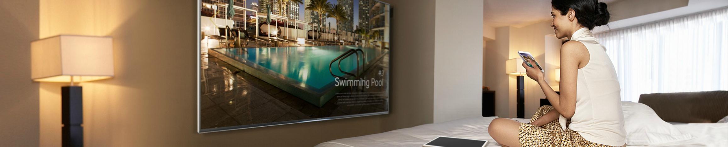 Furnizeaza continut interactiv clientilor  utilizand solutiile Hotel TV